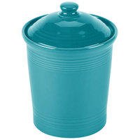 Homer Laughlin 571107 Fiesta Turquoise Small 1 Qt. Canister with Cover - 2 / Case