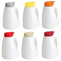 Tablecraft PP32A 32 oz. Option Dispensers with Assorted Tops   - 6/Pack