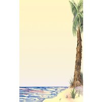 8 1/2 inch x 11 inch Menu Paper - Tropical Themed Palm Tree Design Right Insert - 100/Pack