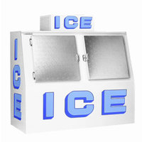 Polar Temp 900CW Cold Wall Outdoor Ice Merchandiser with Slant Front - 90 cu. ft.