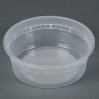8 oz. Microwavable Translucent Plastic Deli Container - 48 / Pack