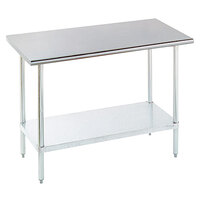 Advance Tabco ELAG-240-X 24 inch x 30 inch 16 Gauge Stainless Steel Work Table with Galvanized Undershelf