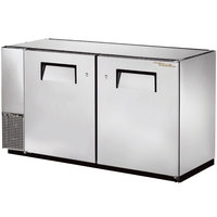True TBB-24GAL-60-S 60 inch Stainless Steel Narrow Under Bar Refrigerator with Galvanized Top and Two Solid Doors