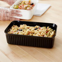 Carlisle 811003 5 lb. Black Rectangular Deli Crock
