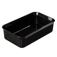 Carlisle 811003 Black 5 lb. Rectangular Deli Crock