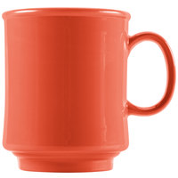 GET TM-1308 -RO Diamond Mardi Gras 8 oz. Rio Orange Tritan Stacking Mug - 24/Case