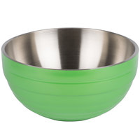 Vollrath 4659235 Double Wall Round Beehive 6.9 Qt. Serving Bowl - Green Apple
