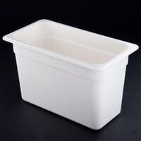Cambro 38CW148 White Camwear 8 inch Deep One Third Size Food Pan