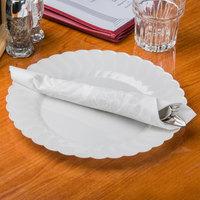 Hoffmaster 125040 17 inch x 17 inch Silver Prestige Linen-Like 1/4 Fold Dinner Napkin - 75/Pack