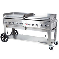 Crown Verity MG-72LP 72 inch Portable Outdoor Griddle - Liquid Propane