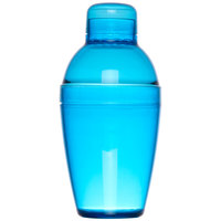 Fineline 4102-BL Quenchers 10 oz. Blue Plastic Shaker - 24/Case