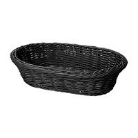 GET WB-1505-BK 11 3/4 inch x 8 inch x 3 inch Designer Polyweave Black Oval Basket - 12 / Case