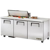 True TSSU-72-10 72 inch Three Door Sandwich / Salad Prep Refrigerator