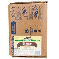 Fox's Bag In Box Orange Beverage / Soda Syrup - 5 Gallon