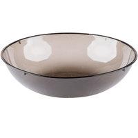 Fineline 3505-SM Platter Pleasers 1 Gallon (4 Qt.) Smoke Plastic Round Bowl - 24/Case