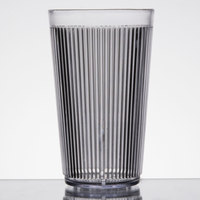 Carlisle 401207 Crystalon Stack-All 12.3 oz. Clear SAN Plastic Tumbler - 12/Case