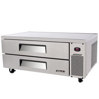 Turbo Air TCBE-52SDR 52 inch Two Drawer Refrigerated Chef Base - 11 cu. ft.