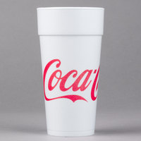Dart 24J16C 24 oz. Coke® Foam Cup - 500/Case