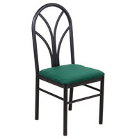 "Lancaster Table &amp&#x3b; Seating Green 4 Spoke Restaurant Dining Room Chair with 1 3/4"" Padded Seat"