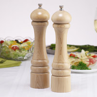 Chef Specialties 10202 Professional Series 10 inch Customizable Imperial Natural Finish Pepper Mill and Salt Mill