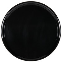 WNA Comet A916BL Checkmate 16 inch Black Round Catering Tray   - 5/Pack