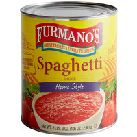 Furmano's #10 Can Home Style Spaghetti Sauce - 6/Case