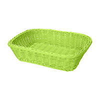 GET WB-1508-G Designer Polyweave 11 1/2 inch x 8 1/2 inch x 2 3/4 inch Green Rectangular Plastic Basket