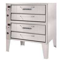 Bakers Pride 152 Liquid Propane Pizza Deck Oven Double Deck 36 inch - 96,000 BTU
