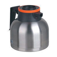 Bunn 40163.0101 Zojirushi 64 oz. Stainless Steel Economy Thermal Carafe - Orange Top