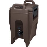 Cambro UC250131 Ultra Camtainers® 2.75 Gallon Dark Brown Insulated Beverage Dispenser