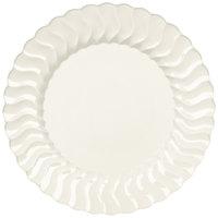 Fineline Flairware 207-BO 7 1/2 inch Bone Plastic Plate - 180 / Case