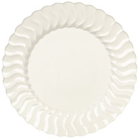 Fineline Flairware 207-BO 7 1/2 inch Bone / Ivory Plastic Plate - 180/Case