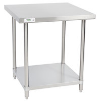 Regency 30 inch x 30 inch 16-Gauge 304 Stainless Steel Commercial Work Table with Undershelf