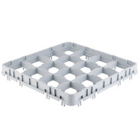 Cambro 16E5151 Camrack 16 Compartment Soft Gray Half Drop Full Size Camrack Stemware Extender