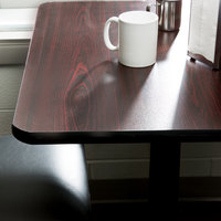 ... Lancaster Table U0026 Seating 36 Inch X 36 Inch Laminated Square Table Top  Reversible Cherry /