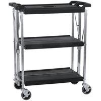 Carlisle SBC152103 Fold 'N Go 15 inch x 21 inch Black Folding Utility Cart