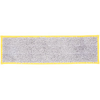 Unger DD40Y SmartColor Yellow Dry / Damp 13.0 Mop Pad - 19 1/2 inch