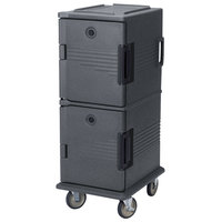 Cambro UPC800SP191 Granite Gray Camcart Ultra Pan Carrier - Front Load Tamper Resistant