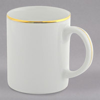 10 Strawberry Street GL0028 10 oz. Gold Line C-Handle Mug - 24/Case