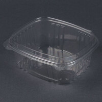 Genpak AD32F 7 1/4 inch x 6 3/8 inch x 3 inch 32 oz. Clear Hinged Deli Container with High Dome Lid - 200 / Case