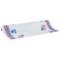 40 inch x 300' Paper Table Cover with Patriotic Pattern