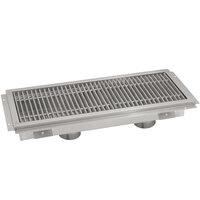 Advance Tabco FFTG-12108 12 inch x 108 inch Floor Trough with Fiberglass Grating
