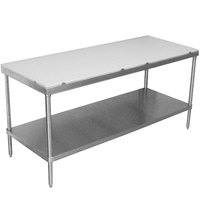 Advance Tabco SPT-244 Poly Top Work Table 24 inch x 48 inch with Undershelf