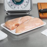 CKF 88103 (#2S) White Foam Meat Tray 8 1/4 inch x 5 3/4 inch x 1/2 inch - 250/Pack