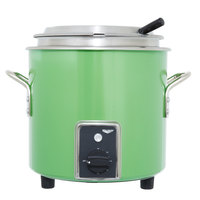 Vollrath 7217735 Green Apple Finish Retro 7 Qt. Stock Pot Kettle Rethermalizer - 120V, 1450W