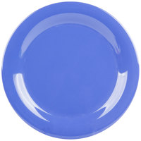 GET NP-10-PB Diamond Mardi Gras 10 1/2 inch Peacock Blue Narrow Rim Round Melamine Plate - 12/Case