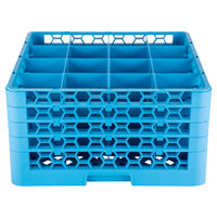 Carlisle RG16-414 OptiClean 16 Compartment Glass Rack with 4 Extenders