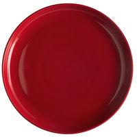 Tuxton BQA-1315 DuraTux 13 1/8 inch Cayenne China Pizza Serving Plate - 6/Case