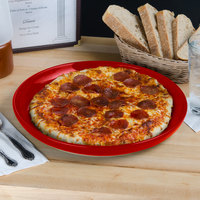Tuxton BQA-1315 DuraTux 13 1/8 inch Cayenne China Pizza Serving Plate - 6/Case