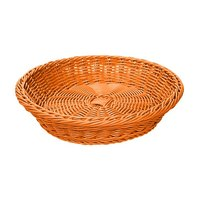 GET WB-1502-OR Designer Polyweave 11 1/2 inch x 2 3/4 inch Orange Round Plastic Basket
